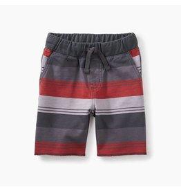 Striped Cruiser Baby Shorts, Coal Tri-Stripe