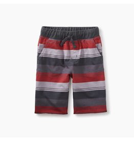 Print Cruiser Shorts, Coal Tri-Stripe