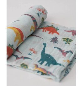 Cotton Swaddle - Embroidosaurus
