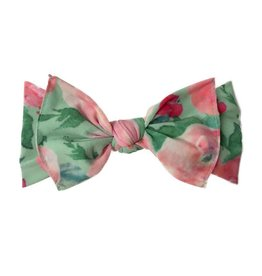 Printed Knot - Watercolor Floral Mint