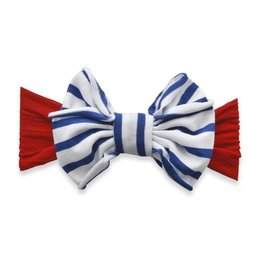 Jersey Bow, Cherry/Royal Stripe