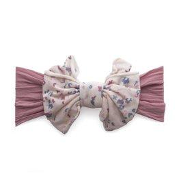 Jersey Bow, Mauve Floral