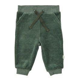 Boys Velour Pants, Green
