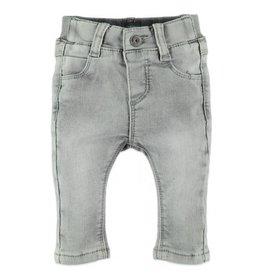 Baby Boy Jogger Jeans, Grey Denim