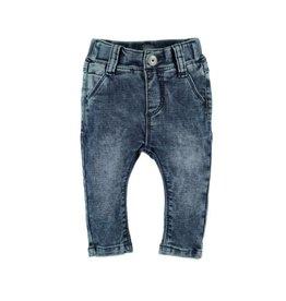 Baby Boy Jogger Jeans, Blue Denim