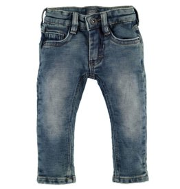 Boys Jogger Jeans, Blue Denim w Cuff