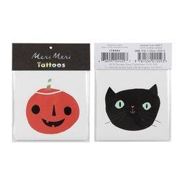 Cat + Pumpkin Tattoo