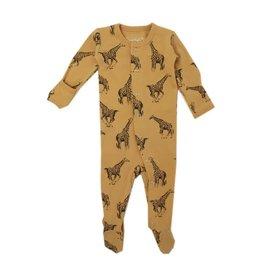 Organic Sleeper, Honey Giraffe Print