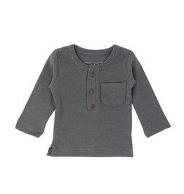 Organic Thermal Pajama Set, Graphite