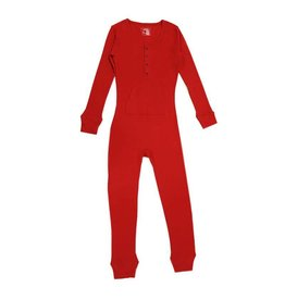 Organic Thermal Women's Onesie, Ruby