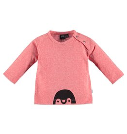 Penguin Bottom LS Tee, Pink Sorbet