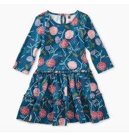 Printed Tiered Dress, Folksy Floral