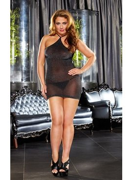 L Dancer Xgen VIP Metallic Mini Dress Plus