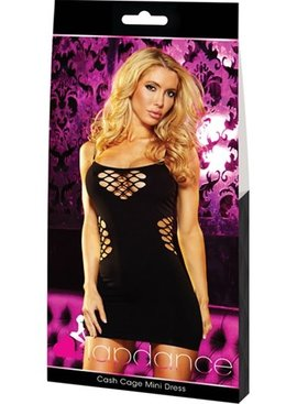 L Dancer Xgen Cash Cage Mini Dress - Black