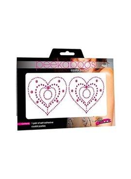 1 Crystal Heart Pink Pasties