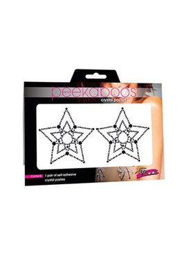Peekaboos Eye Candy Black Crystal Star Pasties