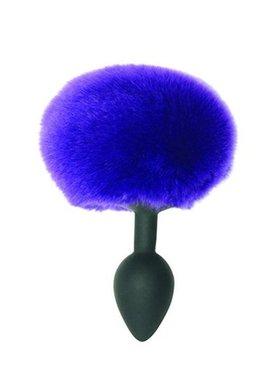 Midnight Metal Bunny Butt Plug - Purple