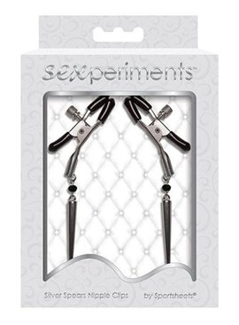 Sexperiments Silver Spears Nipple Clips
