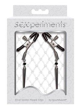 Sportsheets Silver Spears Nipple Clips
