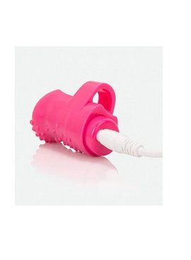 1 Charged Finger Vibrator - Pink