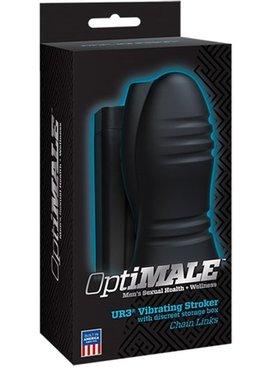 Doc Johnson OptiMALE - ULTRASKYN Vibrating Stroker - Chain Links