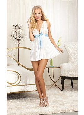 Dreamgirl Bridal Beauty Babydoll And Panty Set