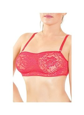 Stretch Lace Bralette in Red