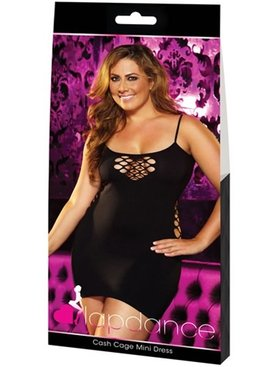 L Dancer Xgen Cash Cage Mini Dress - Black Plus