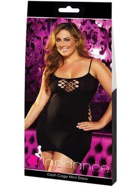XGEN Products Cash Cage Mini Dress - Black Plus