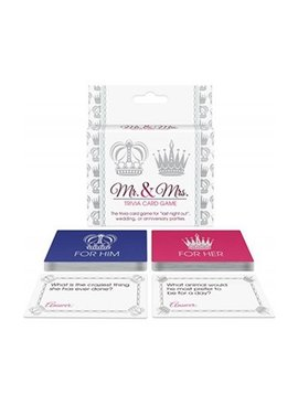 Bachelorette Mr. and Mrs. Trivia Card Game