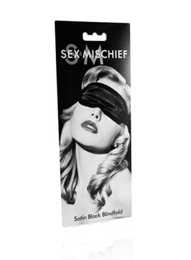 Sex Mischief Satin Blindfold Black
