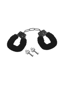 Sex and Mischief Black Furry Handcuffs