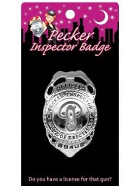 Bachelorette Party Pecker Inspector Badge