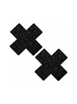 Neva Nude Black Glitter X Pasties