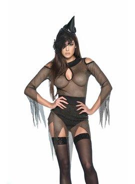 Mapale Fantasywear/Costume Dark Witch W Hat