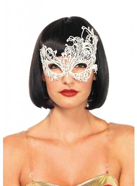 Lace Masquerade Mask, White