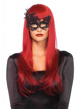 Lace Masquerade Mask, Black
