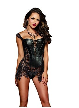 Dreamgirl Beyonce Faux Leather Corset (38)