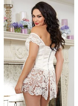 Dreamgirl Beyonce Faux Leather White Corset (36)