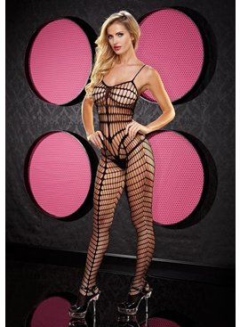 L Dancer Xgen Smokin Hot Seamless Bodystocking, Black