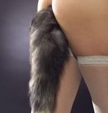 XR Brands Tailz Grey Foxtail Anal Plug