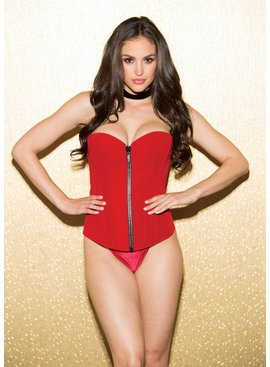 Shirley Of Hollywood Shirley of Hollywood Zip Velvet Corset
