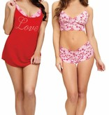 Dreamgirl Dreamgirl - Love, 3pc Lingerie Set