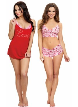 Dreamgirl Dreamgirl - Love, 3pc Valentine's Day Lingerie Set