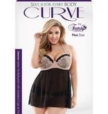Fantasy Lingerie Serena Halter-Tie Babydoll & Panty Set - Curve