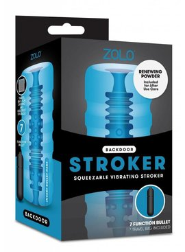 Xgen Products Backdoor Squeezable Vibrating  Stroker by Zolo