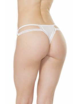 Open Side Bridal Thong