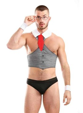Men's Bare Bottom Businessman Fantasy Wear