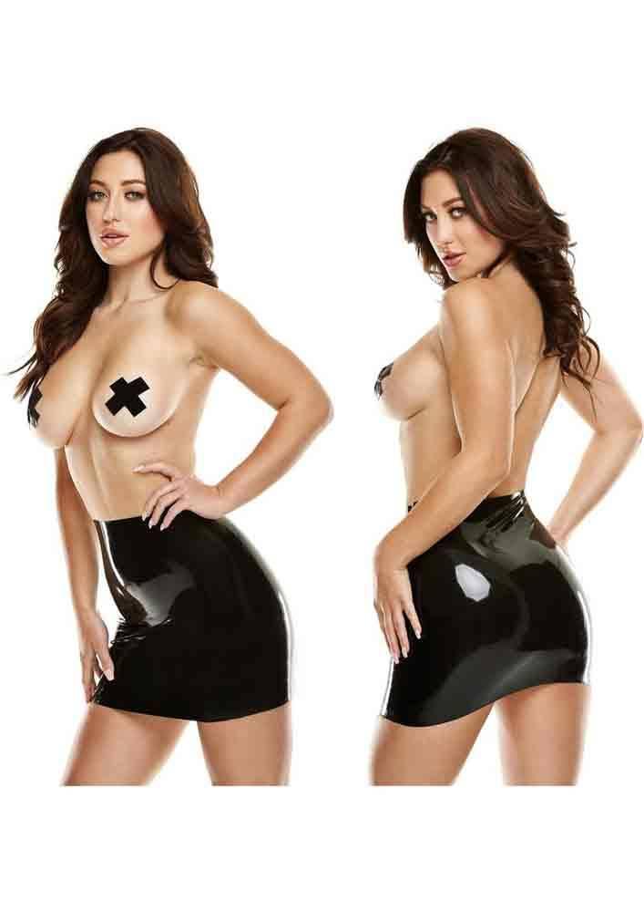 Fetish Latex Latex Mini Skirt - Black