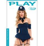 Fantasy Lingerie Miss Demeanor Police Officer Costume